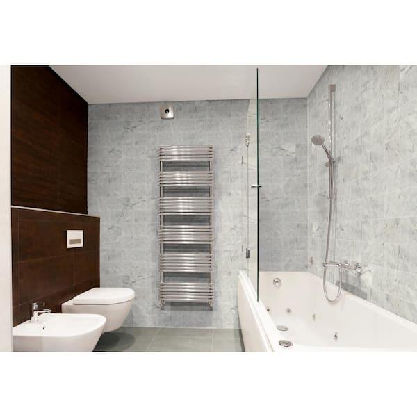 Polished Marble Floor, Carrara Marble Tiles Bathroom