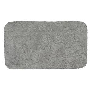 New Regency Grey Flannel 24 in. x 40 in. Nylon Machine Washable Bath Mat