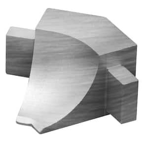 Dilex-AHKA Brushed Chrome Anodized Aluminum 9/16 in. x 1 in. Metal 135 Degree Inside Corner