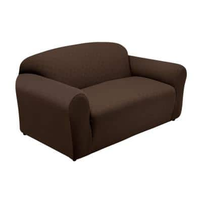 Newport Chocolate Sofa Stretch Slipcover