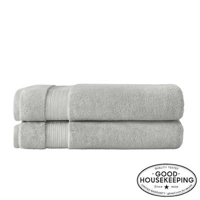 Egyptian Cotton Bath Sheet in Shadow Gray (Set of 2)