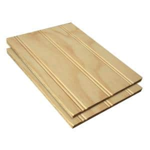 0.344 in. x 48 in. x 96 in. Plywood Siding Plybead Panel