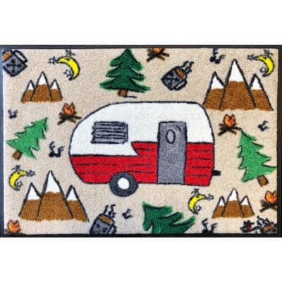 Whimsy Camping Dreams 20 in. x 30 in. Nylon Doormat