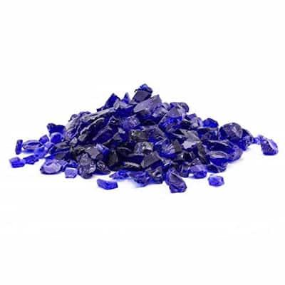 1/2 in. 10 lb. Medium Cobalt Blue Landscape Fire Glass