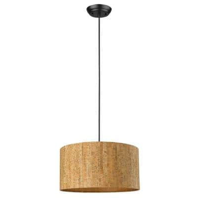 Lisbon 1-Light Matte Black Pendant