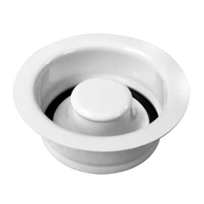 4-1/4 in. 3-Bolt Mount Waste Disposal Flange and Stopper in Powder Coat White