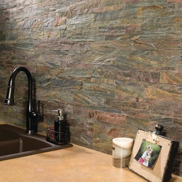 Aspect 23 6 In X 5 9 In Weathered Quartz Peel And Stick Stone Decorative Tile Backsplash A90 80 The Home Depot