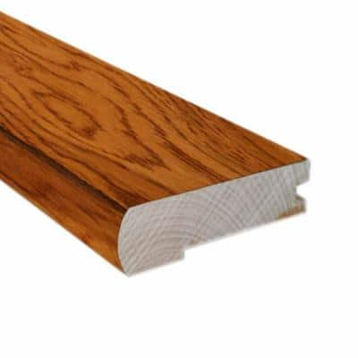 Hickory Golden Rustic 0.81 in. Thick x 3 in. Wide x 78 in. Length FlushMount Stair Nose Molding
