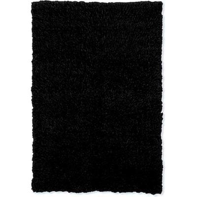New Flokati Black 8 ft. x 10 ft. Area Rug