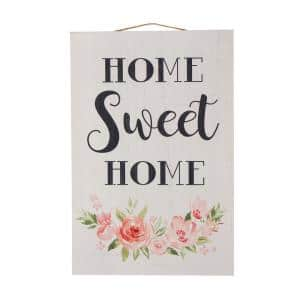 17.72 in. HL Wooden Home Sweet Home Word Sign Wall Decor
