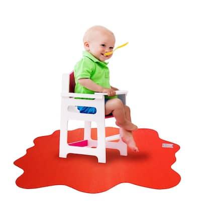 "Floortex® Red Multi-Purpose Mat for Hard Floors - 40"" x 40"""
