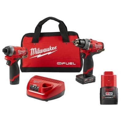 M12 FUEL 12-Volt Lithium-Ion Brushless Cordless Hammer Drill & Impact Driver Combo Kit (2-Tool)W/ 2.0Ah Battery