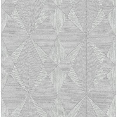 Intrinsic Grey TextuRed Geometric Grey Paper Strippable Roll (Covers 56.4 sq. ft.)