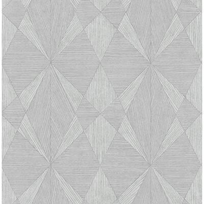 Intrinsic Grey Textured Geometric Grey Wallpaper Sample