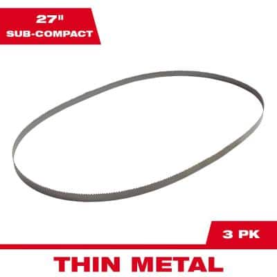 27 in 18 TPI Sub Compact Bi-Metal Band Saw Blade (3-Pack) For M12 Bandsaw