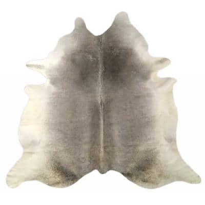 Dahlia Black/White 6 ft. x 7 ft. Specialty Cowhide Area Rug