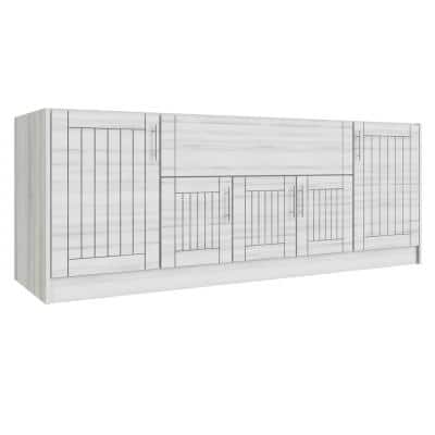 Daytona Whitewash 12-Piece 91.25 in. x 34.5 in. x 28 in. Outdoor Kitchen Cabinet Set