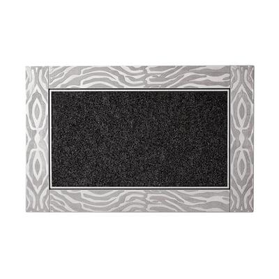 Modern 23 in. x 35 in. Silver Estee Door Mat