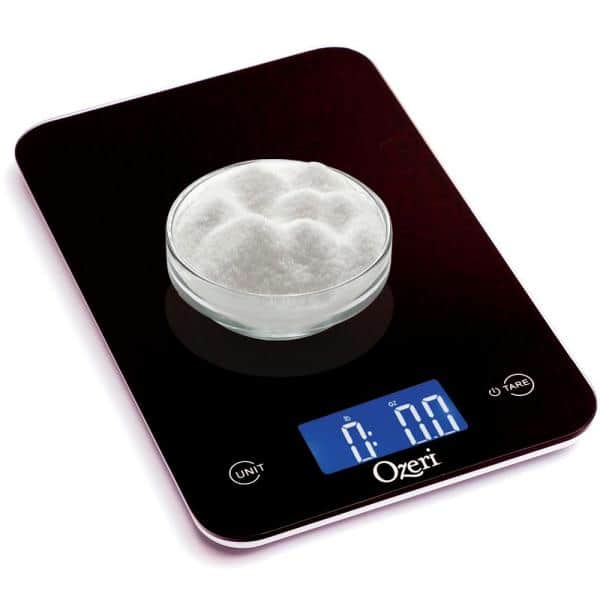 Ozeri - Touch Professional Digital Kitchen Scale (12 lbs. Edition), Tempered Glass in Elegant Black