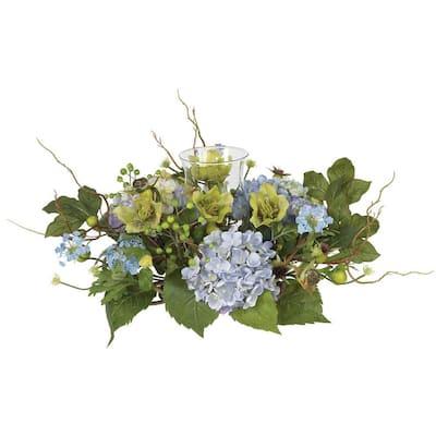 Hydrangea Candelabrum Silk Flower Arrangement