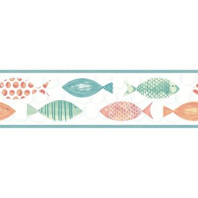 Key West Orange Fish Orange Wallpaper Border