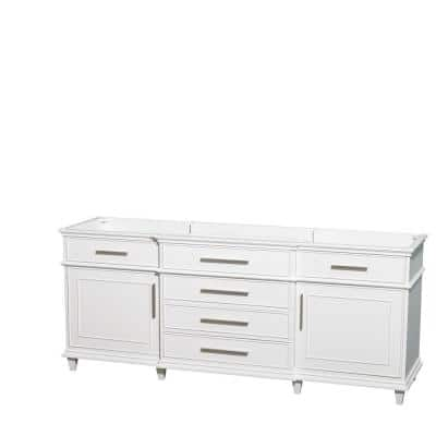 Berkeley 80 in. Vanity Cabinet Only in White
