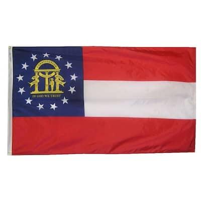 4 ft. x 6 ft. Georgia State Flag