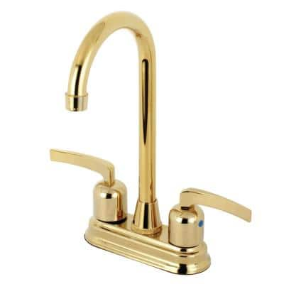 Centurion 2-Handle Bar Faucet in Polished Brass