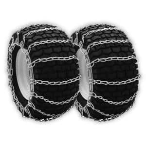 20x8x8 & 20x8x10 in. Tire Chains for Troy-Bilt Cub-Cadet Craftsman & MTD 4902410023, 190658000, 7230327, 7230490, 2-Set