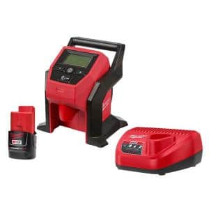 M12 12-Volt Lithium-Ion Cordless Compact Inflator with 2.0 Ah Battery and Charger