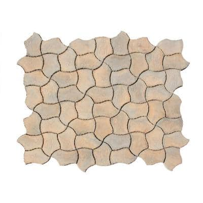 Berkshire 13 in. x 19 in. Tan Variegated Irregular Paver Kit (60-Pieces per Pallet)