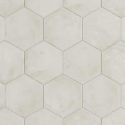 Dash Bianco 8.5 in. x 9.84 in. Matte Hexagon Porcelain Floor and Wall Tile (12.66 sq. ft./Case)