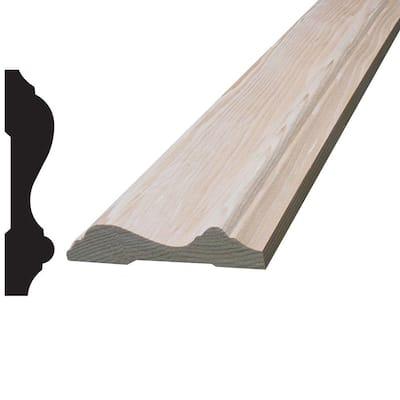 9/16 in. x 2-1/2 in. x 96 in. Hemlock Chair Rail Moulding