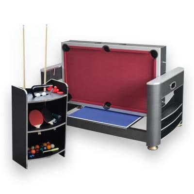 6 ft. Triple Threat 3-in-1 Multi-Game Table with Billiards, Air Hockey and Table Tennis