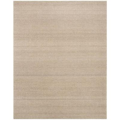 Natura Beige 8 ft. x 10 ft. Striped Solid Gradient Area Rug