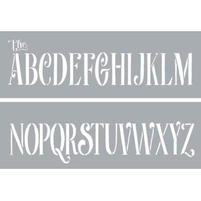 6 in. x 18 in. Curly Alphabet Stencil