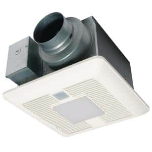 WhisperSense DC fan-LED Lights Motion and Humidity Sensors Delay Timer Pick-A-Flow Speed Selector 50, 80 or 110 CFM