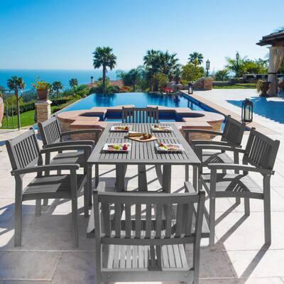 Renaissance 7-Piece Wood Rectangular Outdoor Dining Set