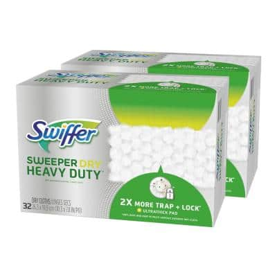 Sweeper Heavy-Duty Dry Sweeping Cloths (32-Count, 2-Pack)