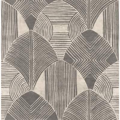 Westport Charcoal Geometric Charcoal Wallpaper Sample