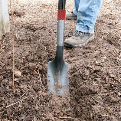 10 in. Fiberglass Handle Trenching Shovel