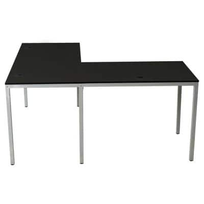 60 in. L-Shaped Black Corner Computer Gaming Desk