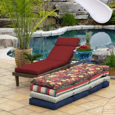 21 x 72 Ruby Leala Texture Outdoor Chaise Lounge Cushion