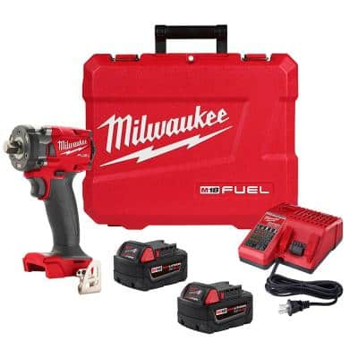 M18 FUEL GEN-3 18-Volt Lithium-Ion Brushless Cordless 1/2 in. Compact Impact Wrench with Friction Ring Kit