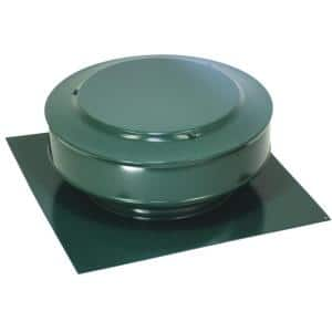 50 sq. in. NFA Aluminum Round Back Static Roof Vent in Green