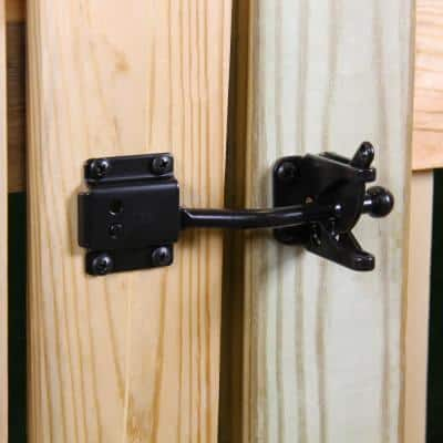Black Self-Adjusting Gate Latch