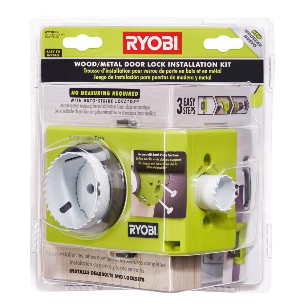 Tools Door Lock Installation Kit Bi-Metal New