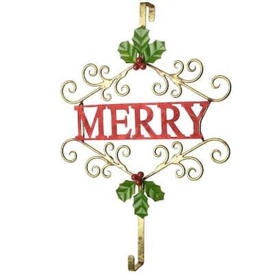 """19 in. Christmas """"MERRY"""" Wreath Hanger"""