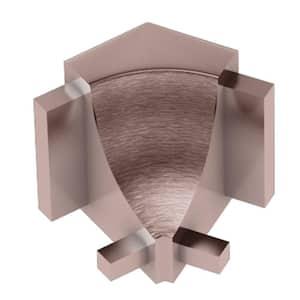 Dilex-AHK Brushed Copper Anodized Aluminum 1/2 in. x 1 in. Metal 135 Degree Inside Corner