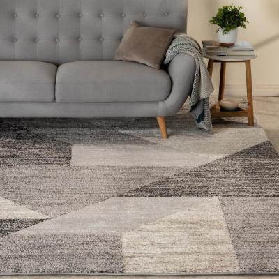 Tash Grey 8 ft. x 10 ft. Geometric Area Rug